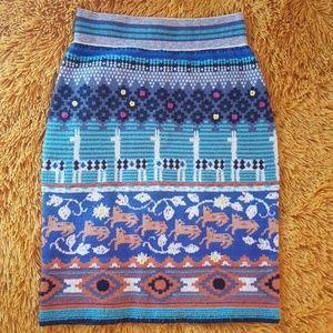 HWR wool skirt for anthropology As S